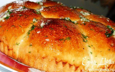 Рецепт Ароматная булка под чесночным соусом.