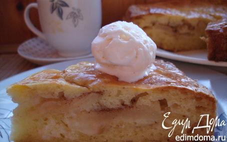 Рецепт Яблочный пирог из творожного теста.
