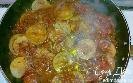 Рецепт Кабачковое карри с помидорами(Courgette Curry with Tomatoes)