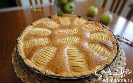 Рецепт Яблочные ломтики в крем-брюле на песочном тесте