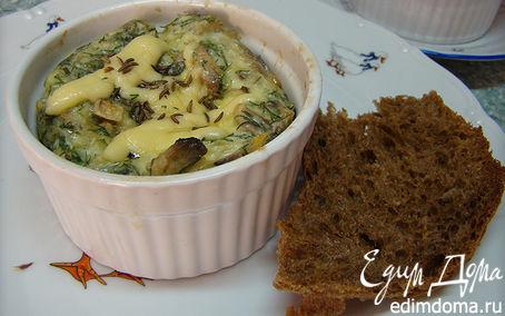Рецепт Омлет с зеленью и грибами.
