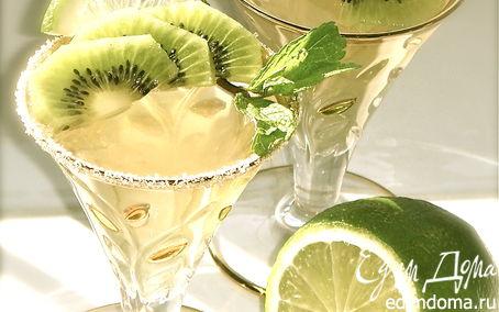 Рецепт Мятное желе из зеленого чая с киви