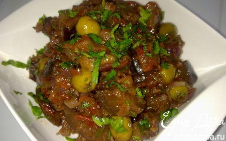 Рецепт Тушеные баклажаны по-сицилийски (caponata)