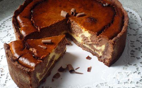 Рецепт Мраморный шоколадный чизкейк