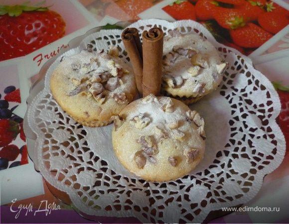 Маффины кофейные с орешками