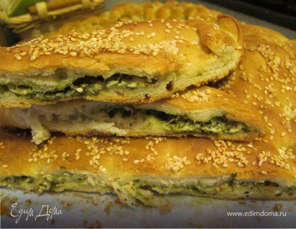 """Хлеб """"Mama mia!!!!"""" с базиликом, пармезаном и кунжутом"""