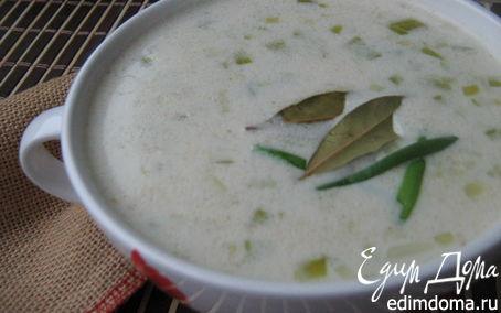 Рецепт Ирландский геркулесовый суп с луком-пореем