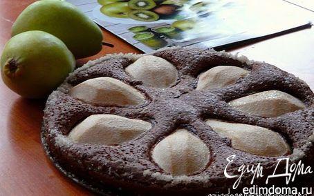 Рецепт Шоколадно-ореховый пирог с грушей(без муки)