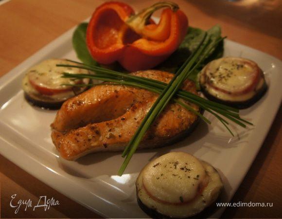 Семга-терияки с запеченными овощами
