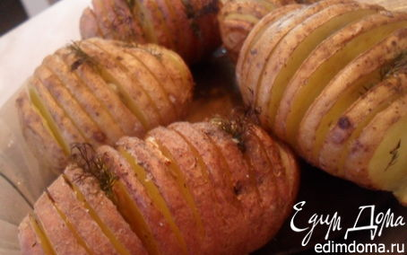 Рецепт Картофель запеченный с чесноком.