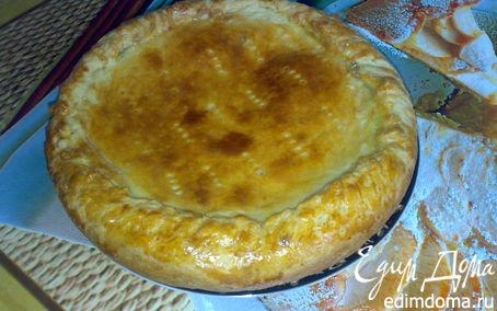 Рецепт Французский пирог с луком и плавленным сырком.