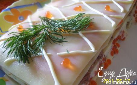 Рецепт Холодная рыбная лазанья