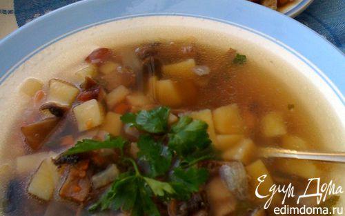 Рецепт Ароматный постный суп с сухариками
