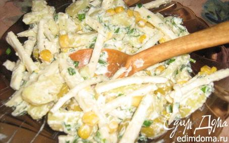 Рецепт Картофельный салат с чесночным крем-соусом