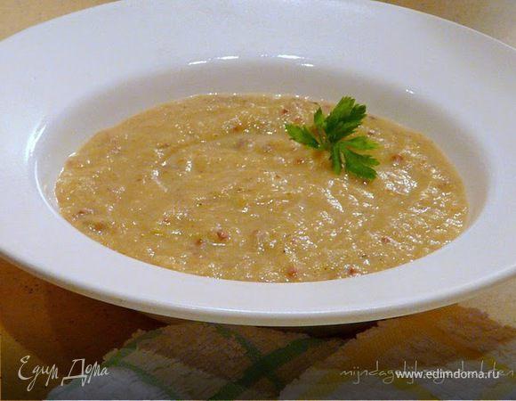 Суп из порея с беконом