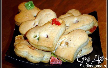 Рецепт Постное печенье с орехами и цукатами