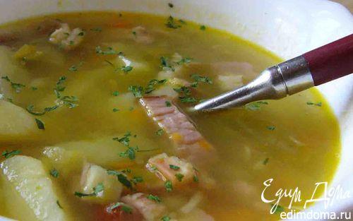 Рецепт Гороховый суп с копченым окороком