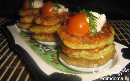 Рецепт Картофельно-яблочные оладьи закусочные