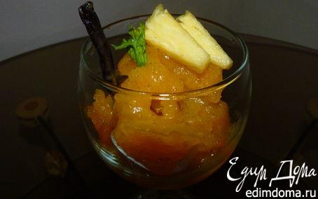 Рецепт Манговый сорбет с ананасами