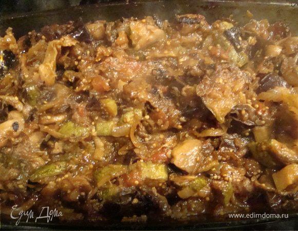 Запеченое овощное рагу (постный стол)