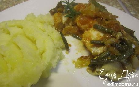 Рецепт Эскалоп под овощами.