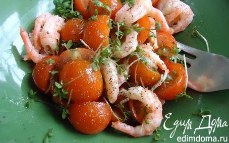 Рецепт Салат с креветками на скорую руку
