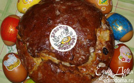Рецепт Кулич с цукатами, изюмом и орехами