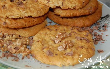 Рецепт Овсяное печенье с грецкими орехами