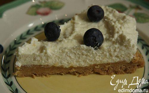 Рецепт Очень простой лимонный чизкейк с ягодами