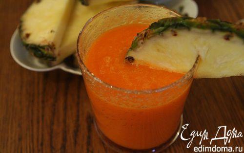Рецепт Витаминный сок из моркови и ананаса