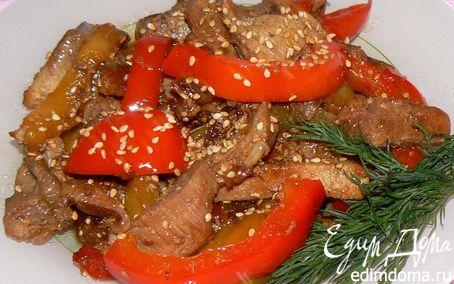 Рецепт Мясо с кунжутом