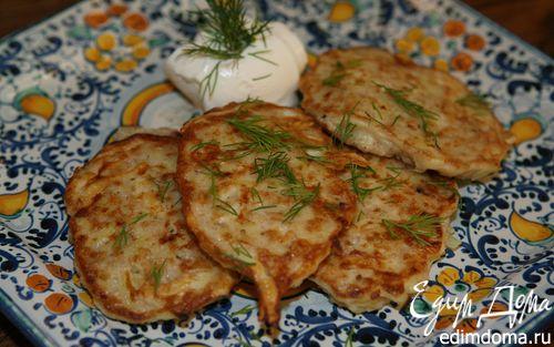 Рецепт Овсяные оладьи с картофелем, сыром и беконом