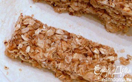 Рецепт Овсяные батончики с орехами без выпечки