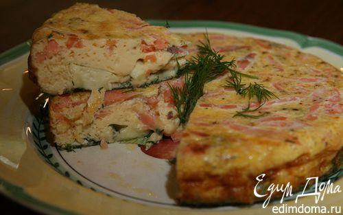 Рецепт Фриттата с семгой, укропом и сыром