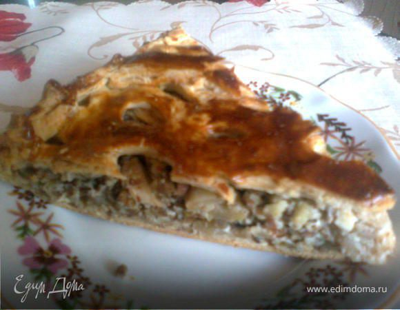 Орехово-яблочный пирог