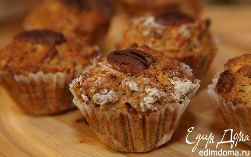 Рецепт Яблочные маффины с орехами пекан