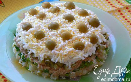 Рецепт Салат с печенью трески