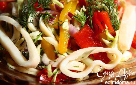 Рецепт Вьетнамский салат с кальмарами