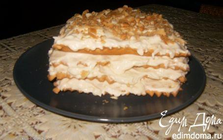 Рецепт Torta Millefoglie con la crema Chantilly или Слоеный пирог с кремом Шантийи