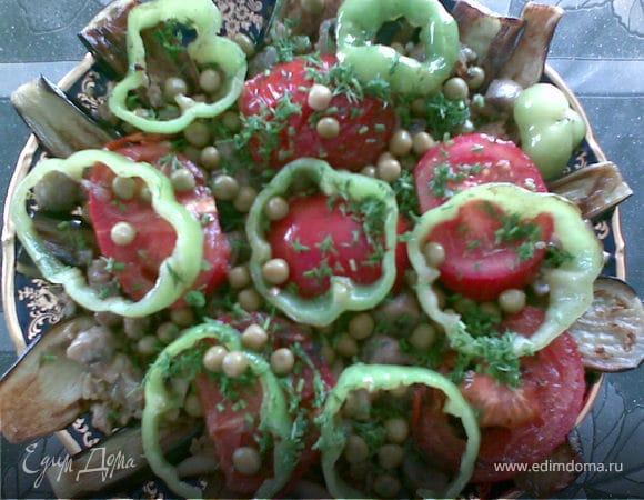 Теплый баклажановый салат