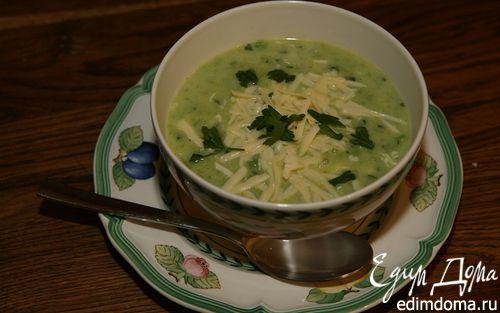 Рецепт Суп из зеленых овощей с яйцом и лимоном