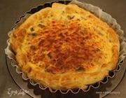 Пирог с сыром и грибами