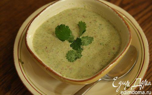 Рецепт Суп с миндалем и стручковой фасолью