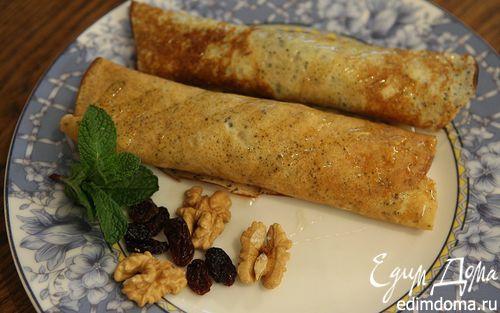 Рецепт Венгерские маковые блины с изюмом и грецкими орехами