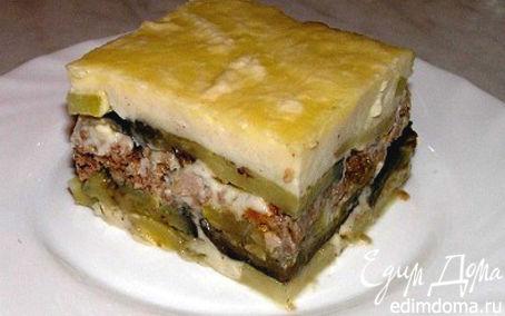 Рецепт Греческая мусака под соусом морнэ