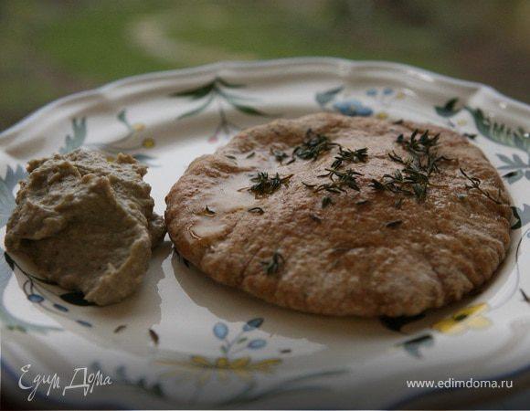 Закуска из запеченных баклажанов с тимьяном и мятой