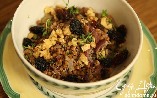 Рецепт Стокгольмская гречневая каша с орехами и изюмом