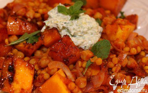Рецепт Тушеная тыква с горохом и помидорами