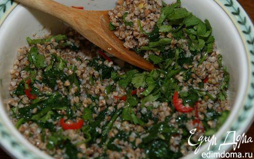 Рецепт Гречка с чили и шпинатом