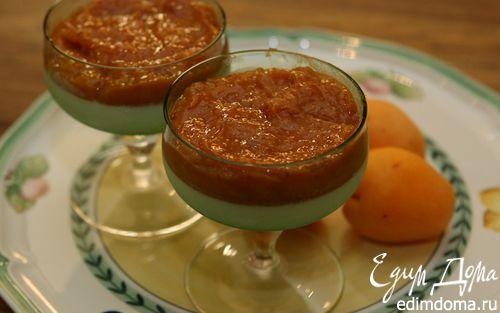 Рецепт Панна котта с абрикосовым муссом